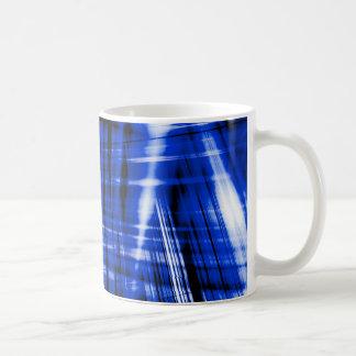Caneca De Café Teste padrão azul escuro das raias