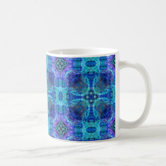 Caneca De Café Teste padrão azul INTRINCADO