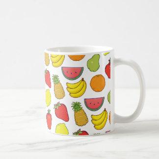 Caneca De Café Teste padrão bonito da fruta