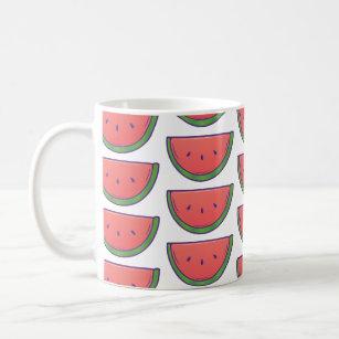 Caneca De Café Teste padrão bonito da melancia