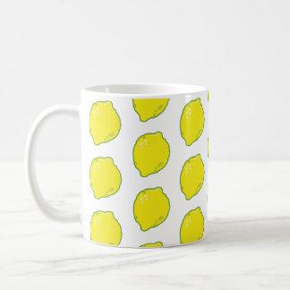 Caneca De Café Teste padrão bonito do limão