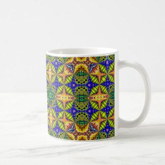 Caneca De Café Teste padrão colorido