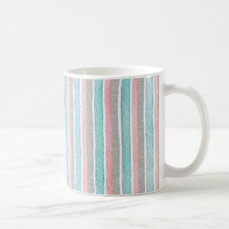 Caneca De Café Teste padrão colorido das listras da aguarela