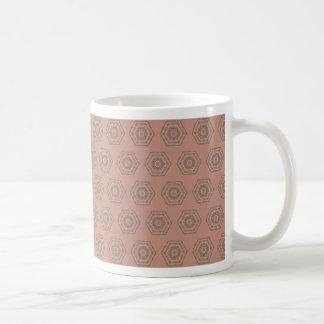 Caneca De Café Teste padrão cor-de-rosa do polígono