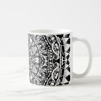 Caneca De Café Teste padrão da mandala