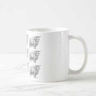 Caneca De Café teste padrão da ram velha