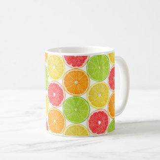Caneca De Café Teste padrão das citrinas