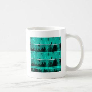 Caneca De Café Teste padrão de cristal azul da montanha do gelo