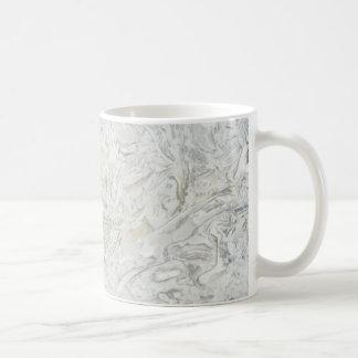 Caneca De Café Teste padrão de superfície de mármore cinzento