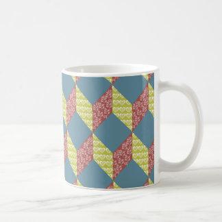 Caneca De Café Teste padrão do bloco do bebê da edredão em cores