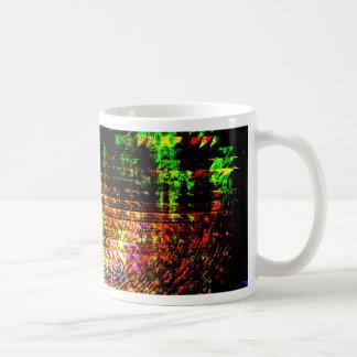 Caneca De Café teste padrão do caleidoscópio do radar