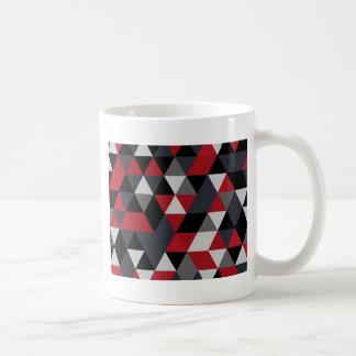 Caneca De Café Teste padrão do polígono de Minimalistic (prisma)
