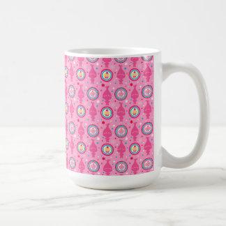 Caneca De Café Teste padrão dos cupcakes & dos arcos-íris dos