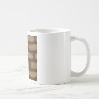 Caneca De Café Teste padrão dos tijolos de Brown