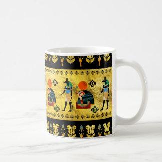 Caneca De Café Teste padrão egípcio dos símbolos do ornamento