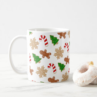 Caneca De Café Teste padrão festivo do feriado da novidade dos