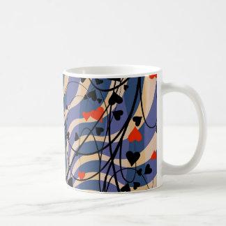 Caneca De Café teste padrão floral da videira