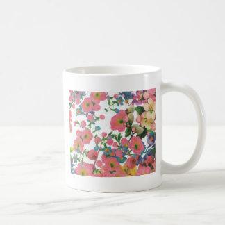 Caneca De Café teste padrão floral do tema das flores elegantes