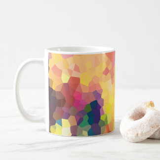 Caneca De Café Teste padrão geométrico dos cristais abstratos