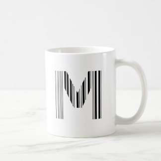 Caneca De Café Teste padrão inicial do código de barras do CÓDIGO