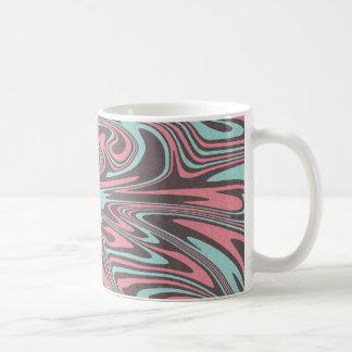 Caneca De Café Teste padrão líquido abstrato