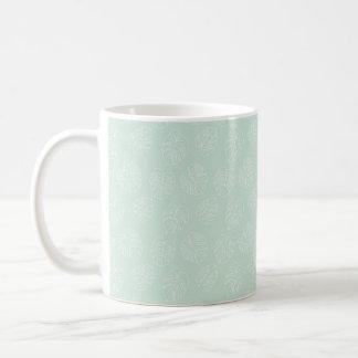 Caneca De Café Teste padrão Pastel tropical da hortelã de