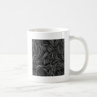 Caneca De Café Teste padrão preto e branco de conexão em cascata
