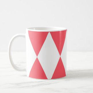 Caneca De Café Teste padrão retro dos triângulos do pêssego