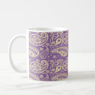 Caneca De Café Teste padrão roxo de Paisley