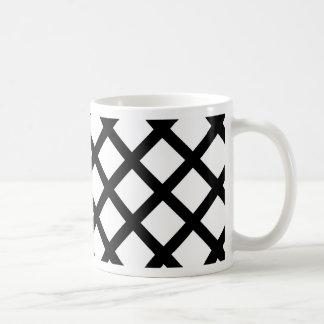 Caneca De Café Teste padrão simples preto e branco