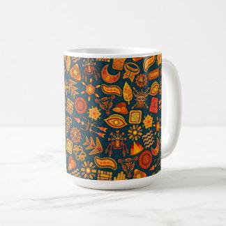 Caneca De Café Teste padrão tribal