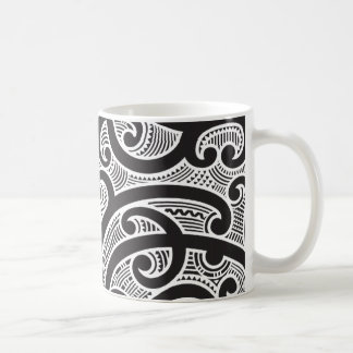 Caneca De Café Teste padrão tribal maori do tatuagem