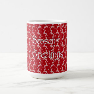 Caneca De Café Teste padrão vermelho do floco de neve da rena
