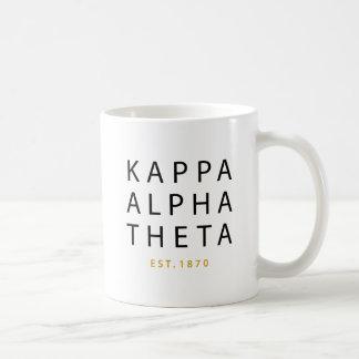 Caneca De Café Teta alfa   Est do Kappa. 1870