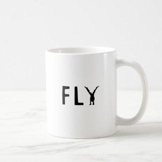 Caneca De Café Texto engraçado da mosca e design humano