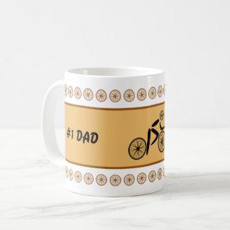 Caneca De Café Texto engraçado do costume do ciclista do dia dos