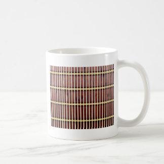 Caneca De Café textura de bambu da esteira