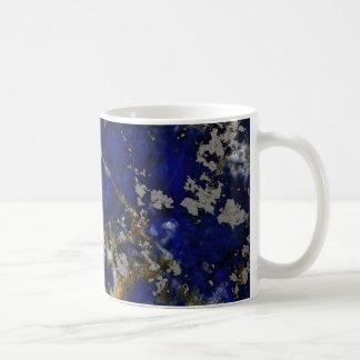 Caneca De Café Textura de pedra: Lazuli de Lapis