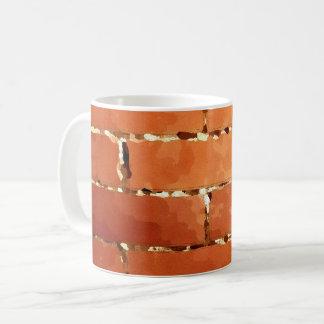 Caneca De Café Textura do tijolo