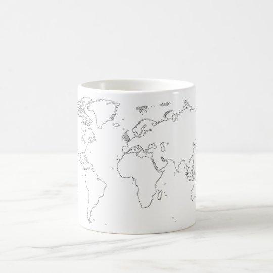 Caneca De Café The World Map