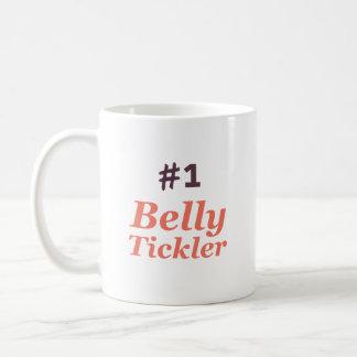 Caneca De Café Tickler da barriga #1 (branco)