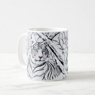 Caneca De Café Tigre branco que mistura-se dentro