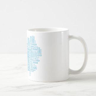 Caneca De Café Tipo azul mapa de maior Manchester