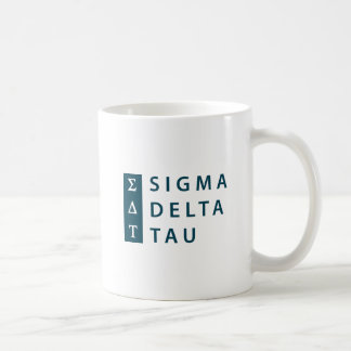 Caneca De Café Tipo moderno da tau | do delta do Sigma