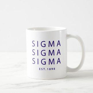 Caneca De Café Tipo moderno do Sigma do Sigma do Sigma