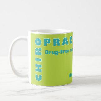 Caneca De Café Tipografia da quiroterapia na cor feliz