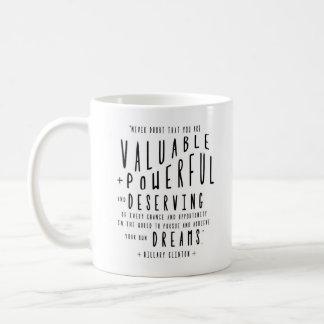 Caneca De Café Tipografia das citações | de Hillary Clinton
