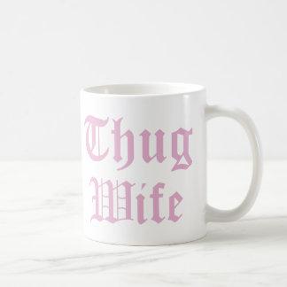 Caneca De Café Tipografia do cultura Pop da esposa do vândalo