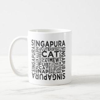 Caneca De Café Tipografia do gato de Singapura