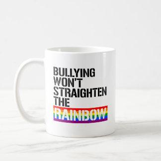 Caneca De Café Tiranizar não endireitará o arco-íris - - LGBTQ Ri